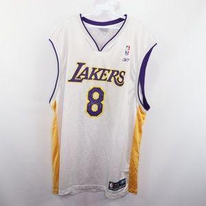 Vintage Reebok Kobe Bryant LA Lakers Jersey White